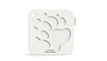 Polar Bear Paw Print Pot Holder | My Animals Collection | SiliconeZone
