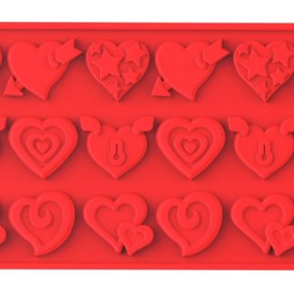 Hearts Silicone Mold | Wafer-Thin Collection | SiliconeZone... Life is Art!