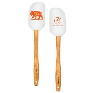 Tiger Silicone & Wood Spatula | My Animals Collection | SiliconeZone... Life is Art!